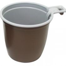 0164 чашка кофейная бел/корич 180 мл Фопос (50/1500)