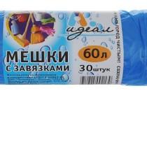 0815 Пакет мусорный 60 л 25 шт Идеал 20 мкр (1/40)
