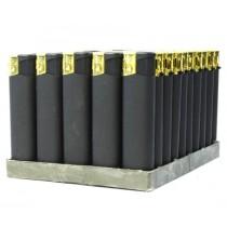 0148 Зажигалка пьезо MSF-105 Black gold (50/500)
