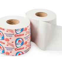 0964 Туалетная бумага Делика СО ВТУЛКОЙ  Д105 (1/32)