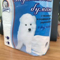 0567 Туалетная бумага двухслойная Снежок 4 рулона (1/8)