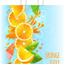 1104 Пакет петл. руч. 38х42+6=37 Апельсиновый сок одностор. Тико (50/500)