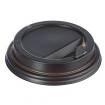 0760 Крышка черная к бум.стакану 200 мл D80 с носиком (100/1000)