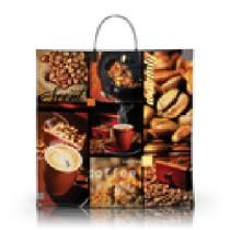 1361 Пакет пласт. руч. ламинир. 40х40+10=100 Чашка кофе (10/100)