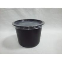 0089 Контейнер черн. кругл. с проз. кр. СПК-115 500 мл (50/500)