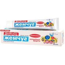 0438 Паста зубная детская Новый Жемчуг Волшебные фрукты 50 мл (1/36)