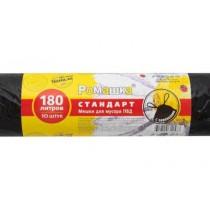 0312 Пакет мусорный 180 л 10 шт Ромашка 45 мкр (1/15)