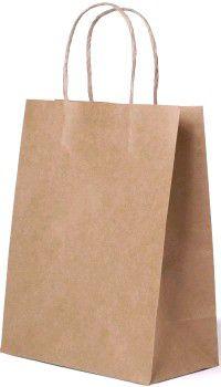 1381 Пакет крафт бумажный с круч. ручками 220х120х250 (250/250)