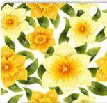 1055 Салфетки Цветы 2-х слойные 33х33, цвета в ассорт.(1/15)