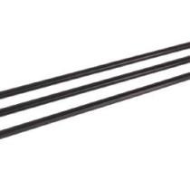 1391 Трубоч. для фрешей  без изгиба черные 8мм*24см в ИНДИВИД. упак. (500шт/уп)(1/48)