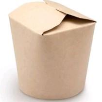 1424 Коробка для лапши 350 мл  WOK с круг.дном Крафт (500/500)