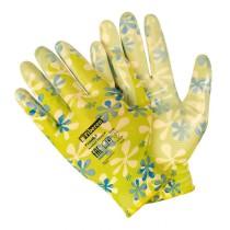1481 Перчатки для садовых работ  полиэстеровые, полиуретановое покрытие (1/120)