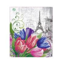 0833 Пакет пласт. руч. 38х45+6=95 Цветы для Мэри РП (10/100)